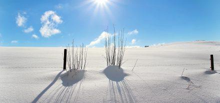 Schneeblindheit Schnee Sonne UV HEV Strahlung Optik Weißmann